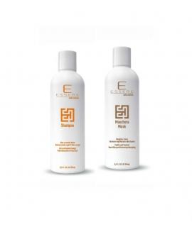 Rinkinys: šampūnas su alavijų, saldžiųjų apelsinų ekstraktais ir Vanilės, kokoso kaukė